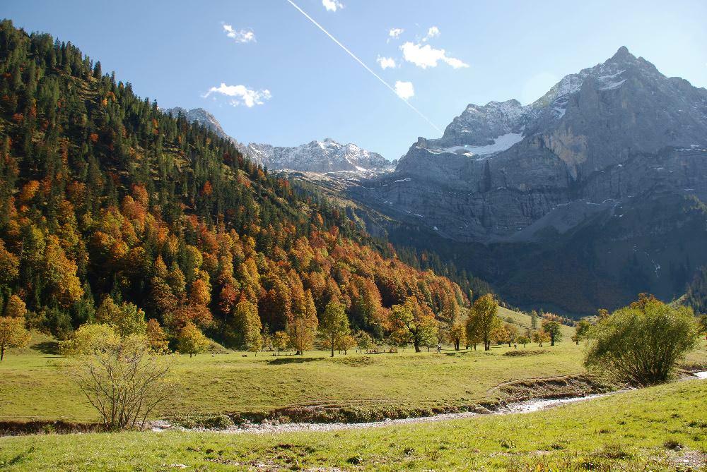Einer der Hotspots in den Alpen: Der Ahornboden in Tirol