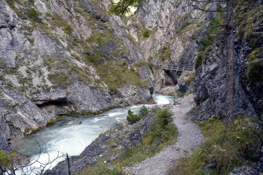 In der Gleirschklamm im Karwendel wandern - ab Scharnitz, Seefeld