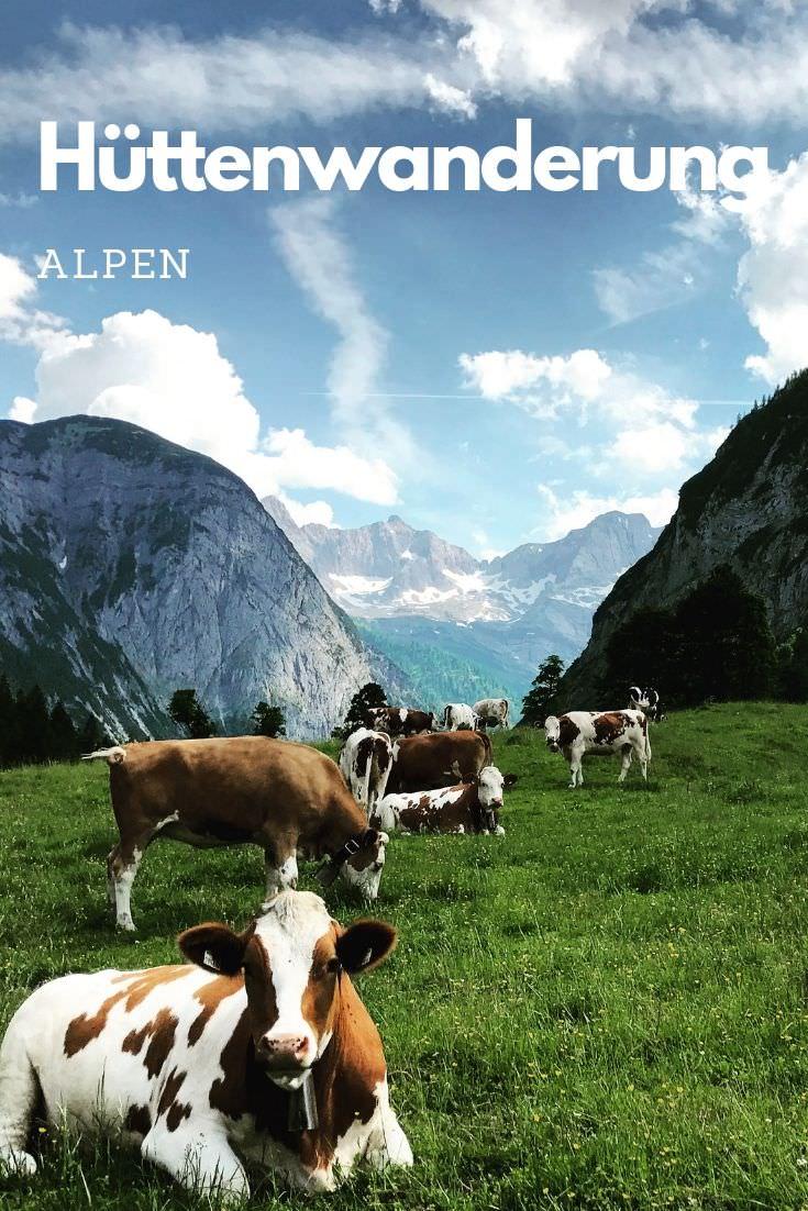 Merk dir diesen Pin gleich bei Pinterest, so kannst du diese Tipps für diene Hüttenwanderung Alpen leicht wieder finden!