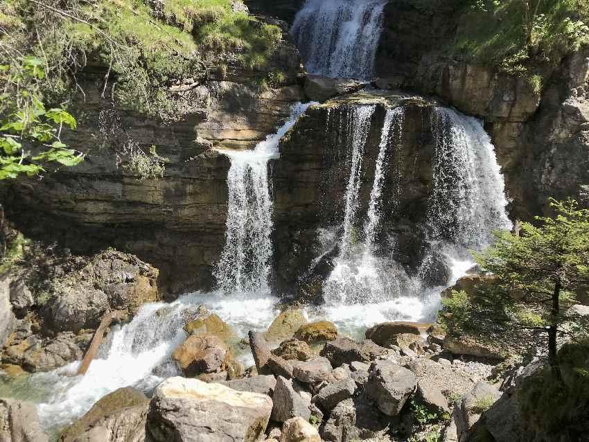 Das sind die Kuhflucht Wasserfälle in Farchant, Garmisch Partenkirchen