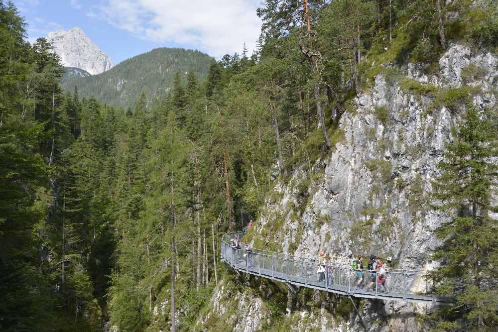 Die Leutaschklamm zwischen Mittenwald und Leutasch