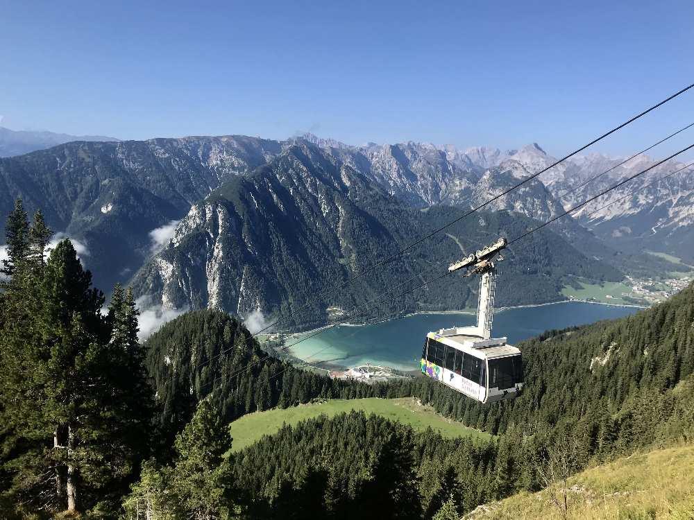 Vom Achensee mit der Rofanseilbahn hinauf in die Berge - ein Traum!