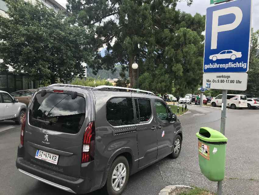 Rosengartenschlucht Parken - direkt in Imst auf dem Parkplatz P4 bei der Kirche