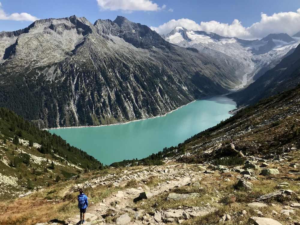 Sehenswürdigkeiten Alpen: Der Schlegeisspeicher in den Zillertaler Alpen