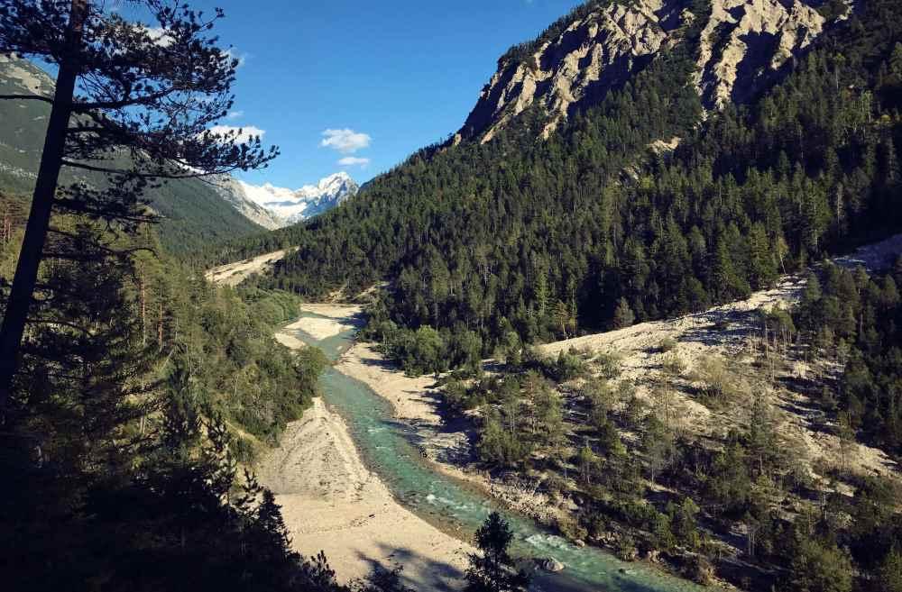 Ein toller Platz im Karwendel: Das Hinterautal bei Scharnitz mit dem Isarursprung