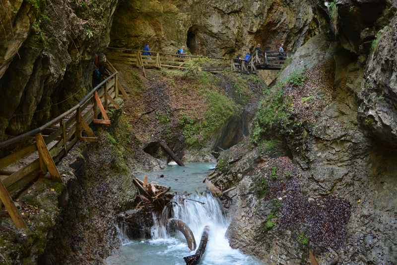 Eine der schönsten Stellen in der Wolfsklamm, so schön zum Wandern in Österreich