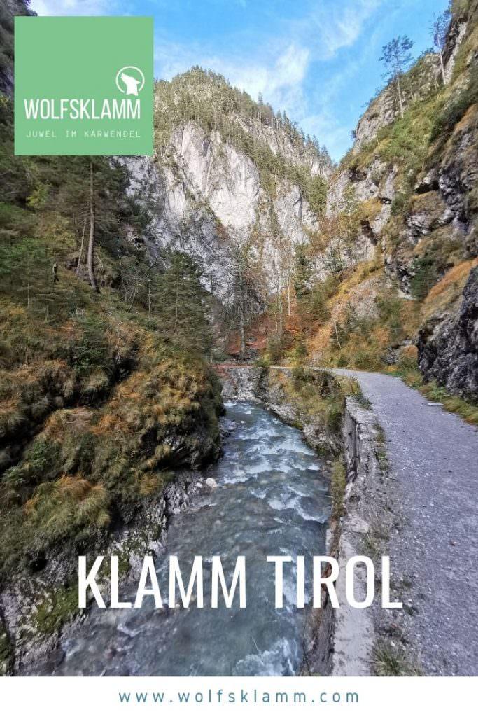 Klamm Tirol wandern