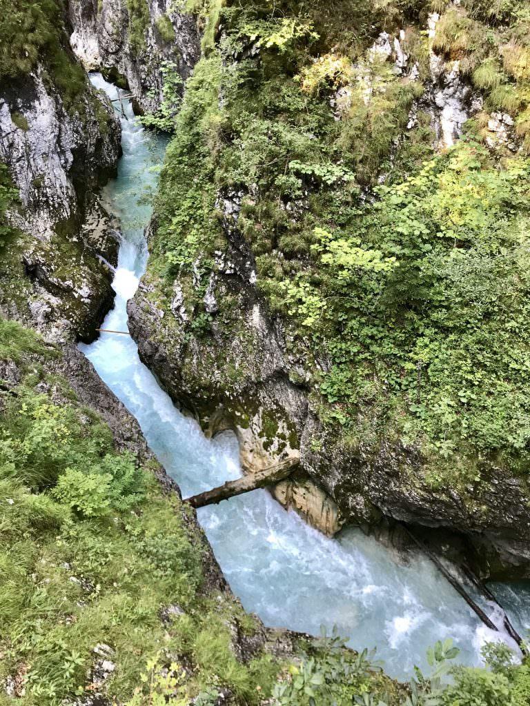 Klamm wandern - von Tirol nach Bayern
