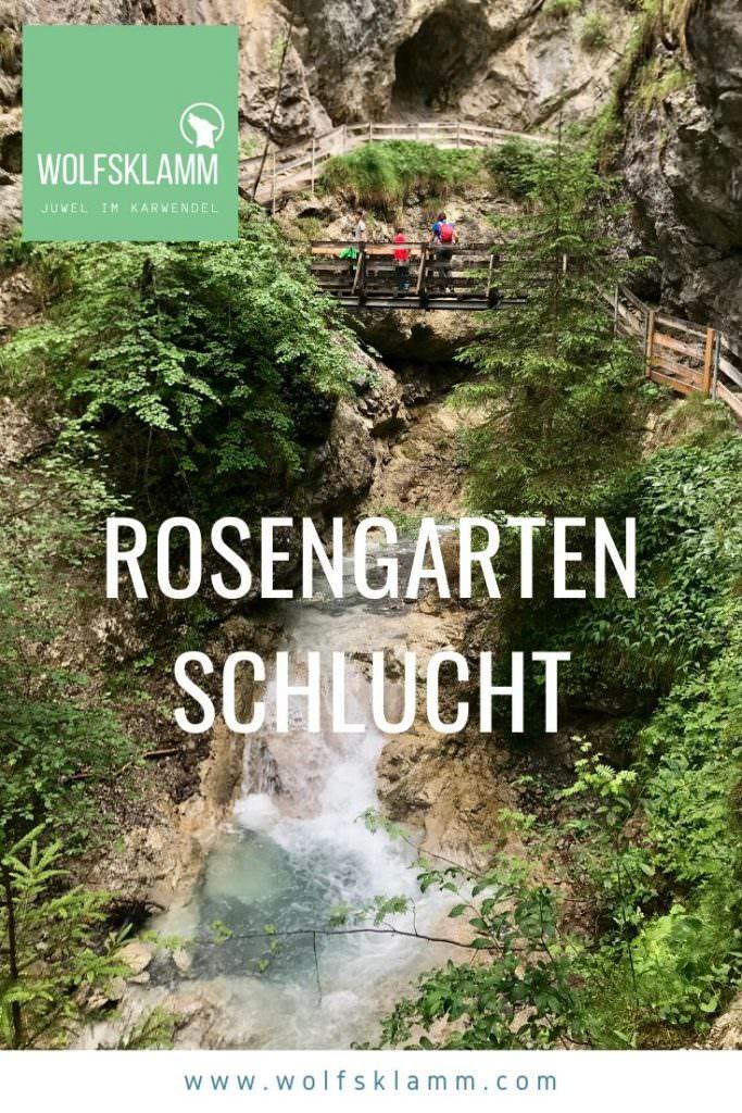 Rosengartenschlucht Tipp merken - für deine nächste Wanderung in Tirol