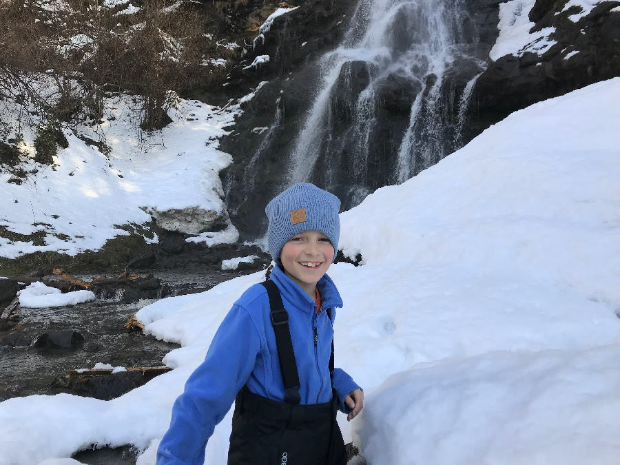 Zillertal Wasserfall im Winter