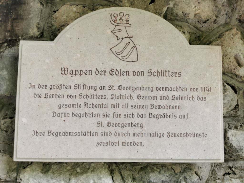 St. Georgenberg - eine Schenkung der Herren von Schlitters