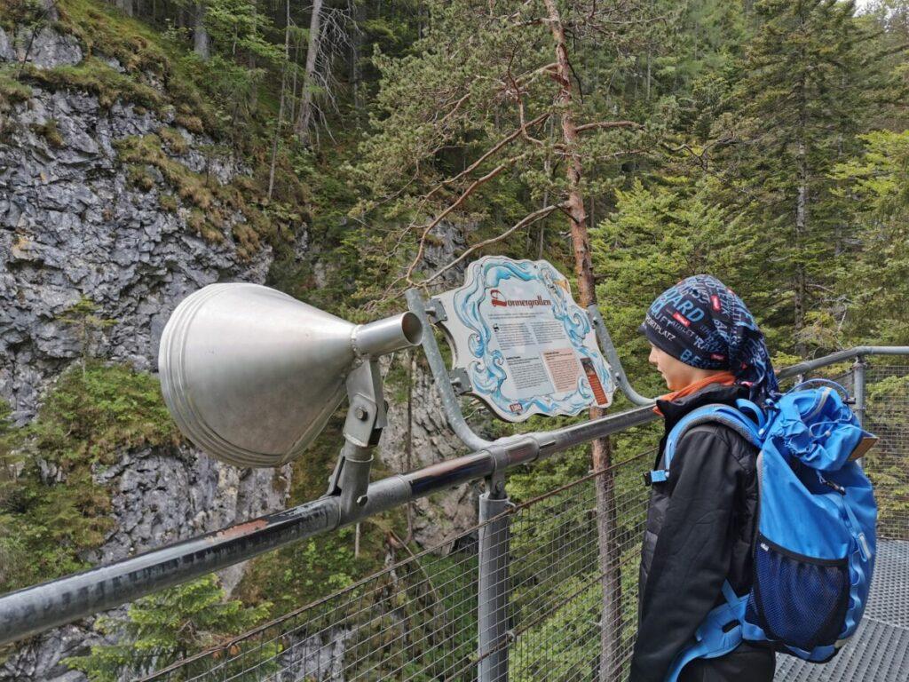 Mit den Stationen über den Klammgeist wird die Leutaschklamm zur Geisterklamm