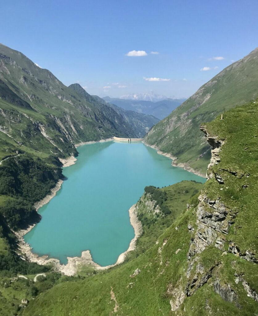Alpen Sehenswürdigkeiten - die Kaprun Stauseen im Salzburger Land