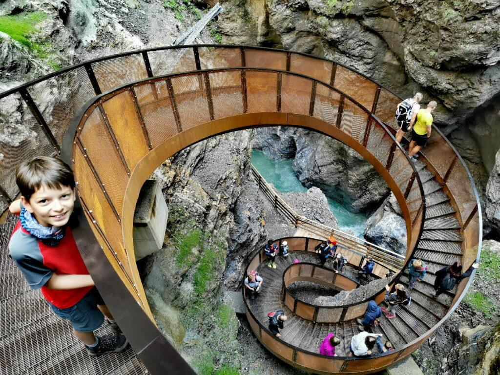 Sehenswürdigkeiten Alpen - meistbesucht ist die Liechtensteinklamm
