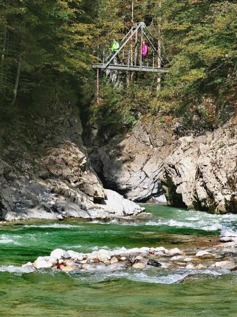 Die letzte Brücke in der Tiefenbachklamm - hier endet die schmale Klamm