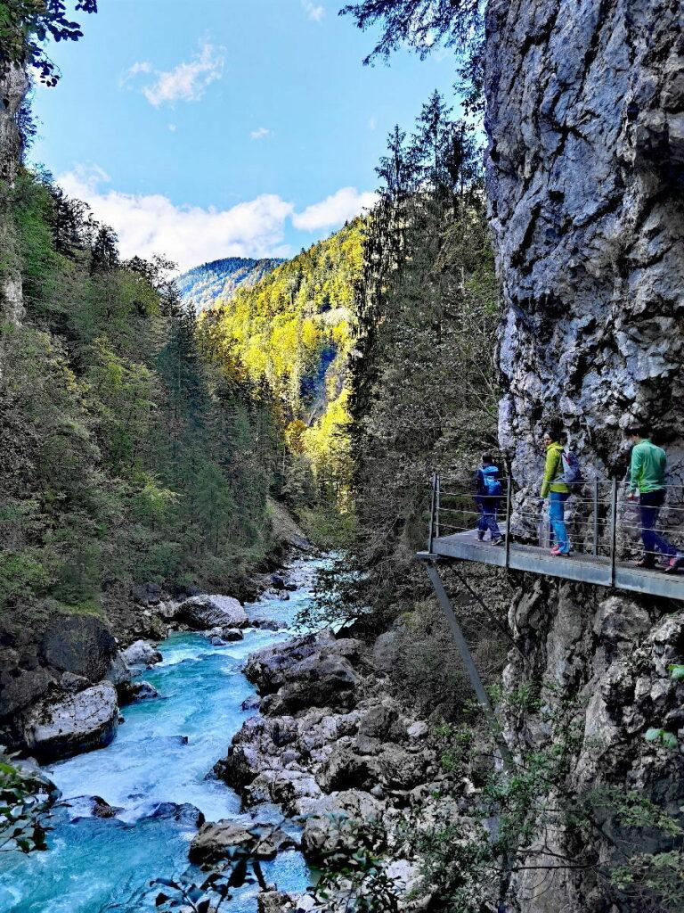 Tiefenbachklamm Wanderung mit Kindern