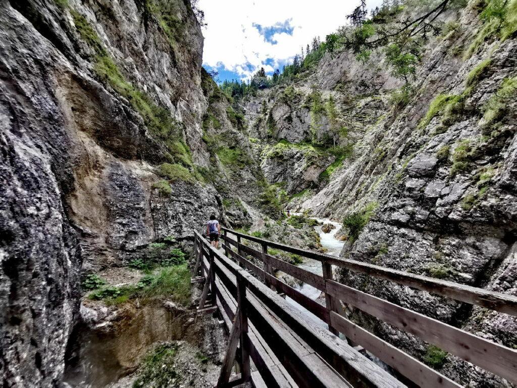 So geht es hinein in die Gleirschklamm im Karwendel