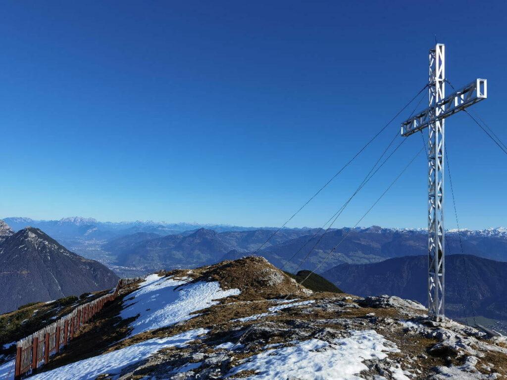 Der Stanser Joch Gipfel mit viel Fernsicht