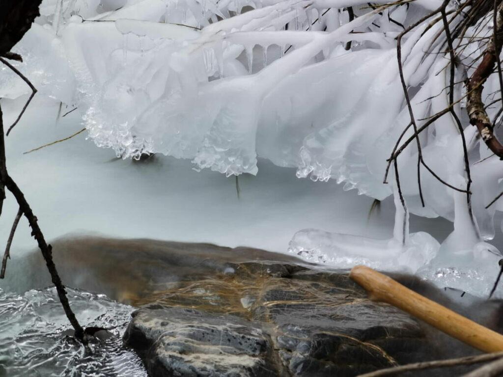 Wolfsklamm Winter Erlebnis? Hier am Eingang der Klamm der winterliche Stallenbach