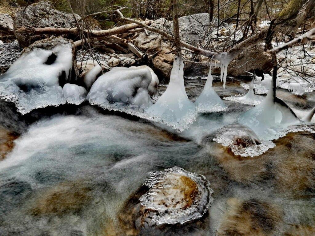 Meine Eindrücke vom Wolfsklamm Winter - am Stallenbach