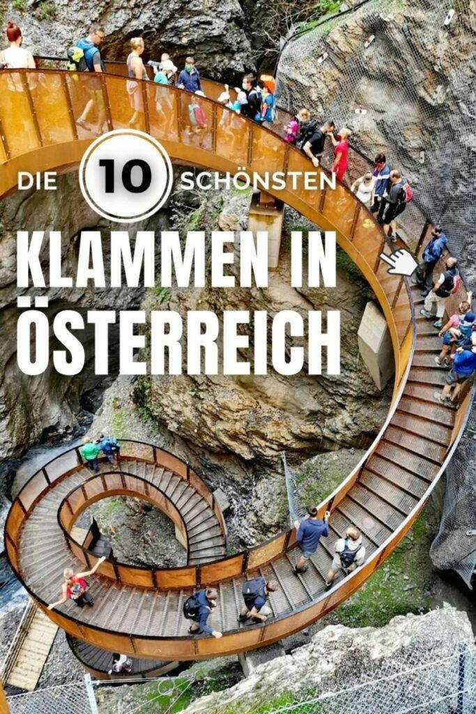 Finde die schönste Klamm in Österreich - hier die Top 10!